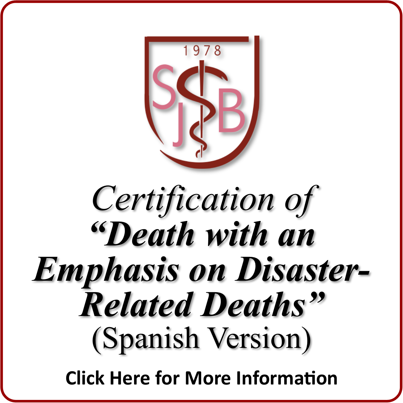 certification death disaster